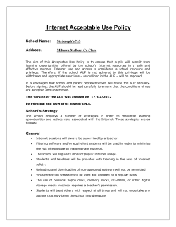 Internet Acceptable Use Policy School Name: Address