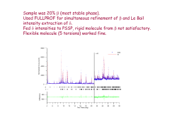 Sample was 20% (most stable phase). Used FULLPROF for simultaneous refinement of