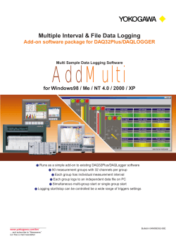 Add Multi Multiple Interval & File Data Logging Add-on software package for DAQ32Plus/DAQLOGGER