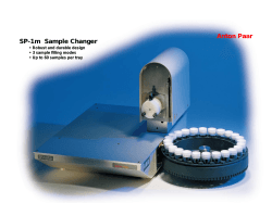 SP-1m  Sample Changer Anton Paar • Robust and durable design