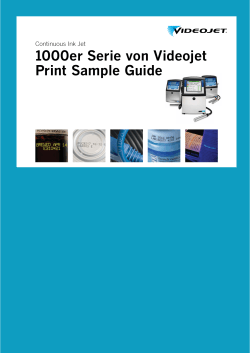 1000er Serie von Videojet Print Sample Guide Continuous Ink Jet
