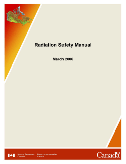Radiation Safety Manual March 2006