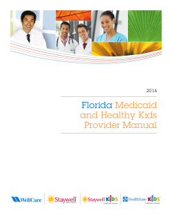 Florida  Medicaid and Healthy Kids