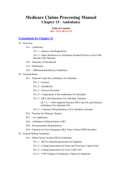Medicare Claims Processing Manual Chapter 15 - Ambulance Transmittals for Chapter 15