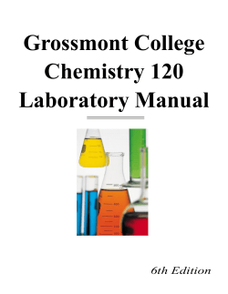 Grossmont College Chemistry 120 Laboratory Manual 6th Edition