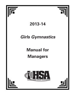 2013-14 Manual for Managers Girls Gymnastics
