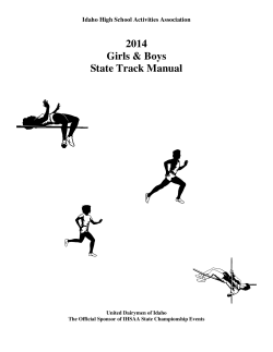 2014 Girls & Boys State Track Manual