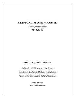 CLINICAL PHASE MANUAL 2013-2014