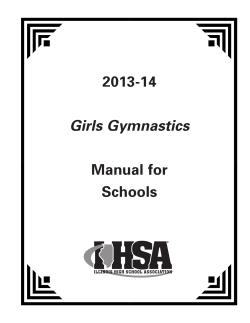 2013-14 Manual for Schools Girls Gymnastics