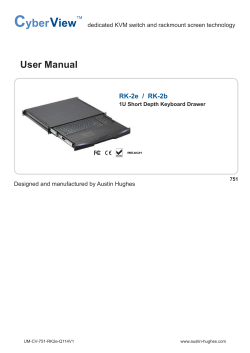 User Manual RK-2e  /  RK-2b