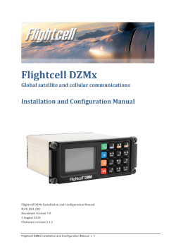 Flightcell DZMx  Installation and Configuration Manual Global satellite and cellular communications