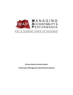 Arizona State Personnel System Performance Management Administrative Manual