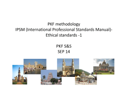 PKF methodology IPSM (International Professional Standards Manual)‐ IPSM (International Professional Standards Manual)