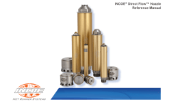 INCOE Direct Flow™ Nozzle Reference Manual ®