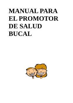 MANUAL PARA EL PROMOTOR DE SALUD BUCAL