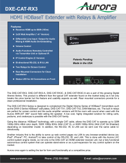DXE-CAT-RX3 Series3 HDMI HDBaseT Extender with Relays & Amplifier
