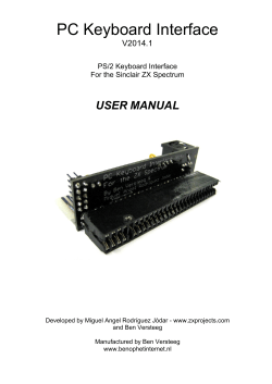 PC Keyboard Interface USER MANUAL