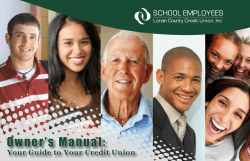 Owner's Manual: Your Guide to Your Credit Union