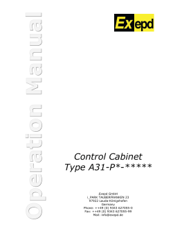 Control Cabinet Type A31-P*-*****