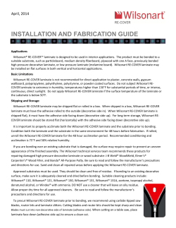 INSTALLATION AND FABRICATION GUIDE April, 2014