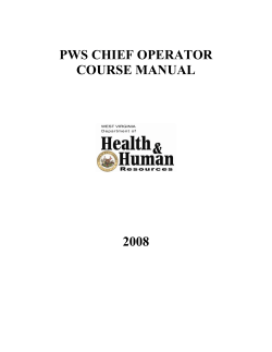 PWS CHIEF OPERATOR COURSE MANUAL 2008