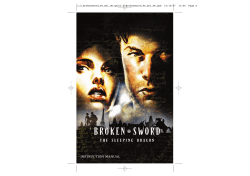 INSTRUCTION MANUAL 2.0_BrokenSword_PC_mnl_UK.qxd:2.0_BrokenSword_PC_mnl_UK.qxd  15/10/07  11:40  Page a