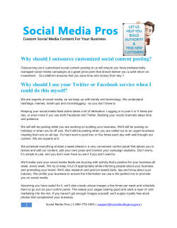 Why should I outsource customized social content posting?