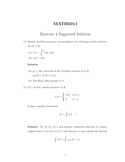 MATH5011 Exercise 4 Suggested Solution
