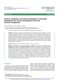 Immune modulation by helminth parasites of ruminants: immune competence