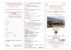 ORGANIZING COMMITEE Sri Ramakrishna Engineering College