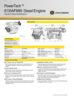 PowerTech ™ 6135AFM85  Diesel Engine Propulsion Engine Specifications Dimensions