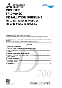 INVERTER FR-D700 SC INSTALLATION GUIDELINE FR-D720S-008SC to 100SC-EC
