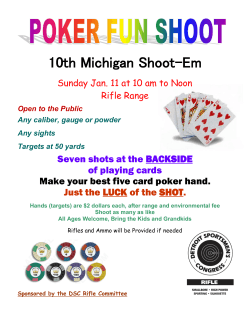 10th Michigan Shoot-Em Seven shots at the BACKSIDE of playing cards