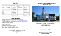 Moultonboro United Methodist Church In His Service October 12, 2014