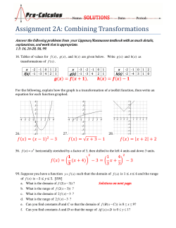 Assignment	2A:	Combining	Transformations SOLUTIONS
