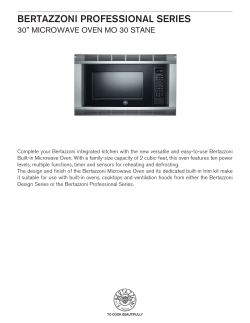 "BERTAZZONI PROFESSIONAL SERIES 30"" MiCrOwaVe OVen MO 30 STane"