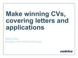 Make winning CVs, covering letters and applications