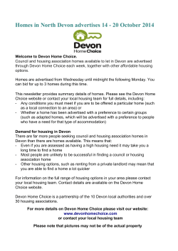 Homes in North Devon advertises 14 - 20 October 2014