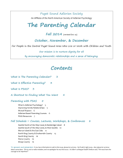 The Parenting Calendar Fall 2014  October, November, & December