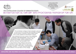 DERMATOLOGICAL SURGERY AND PROCEDURES WORKSHOP FOR GPs