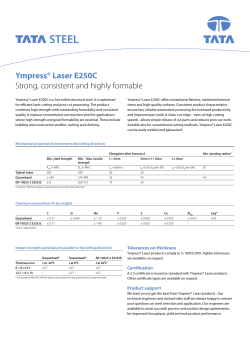 Ympress® Laser E250C Strong, consistent and highly formable