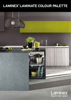 LAMINEX LAMINATE COLOUR PALETTE  ®