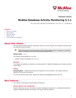 McAfee Database Activity Monitoring 5.1.1  Release Notes About this release