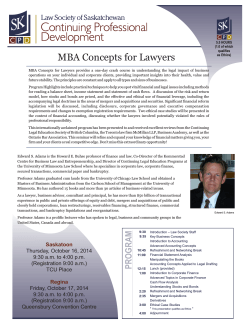 MBA Concepts for Lawyers