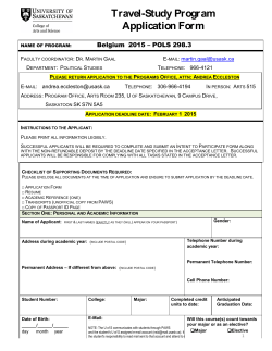 Travel-Study Program Application Form