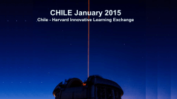 CHILE January 2015 Chile - Harvard Innovative Learning Exchange