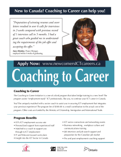 New to Canada? Coaching to Career can help you!