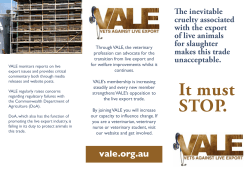 The inevitable cruelty associated with the export of live animals