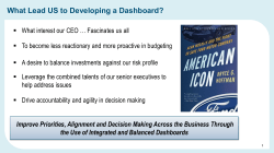 What Lead US to Developing a Dashboard?