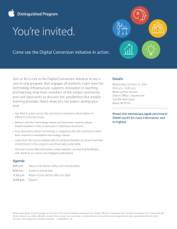 You're invited. Come see the Digital Conversion Initiative in action.